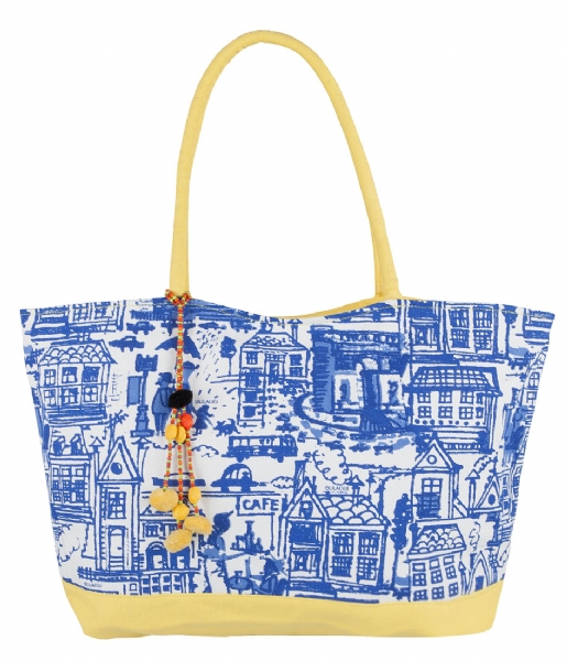 Paris Houses Shopper geel Bulaggi | The Little Green Bag