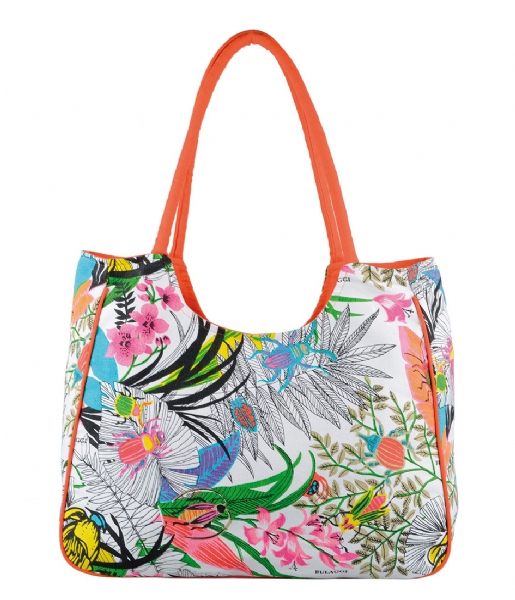 Special Beach Bag oranje Bulaggi | The Little Green Bag