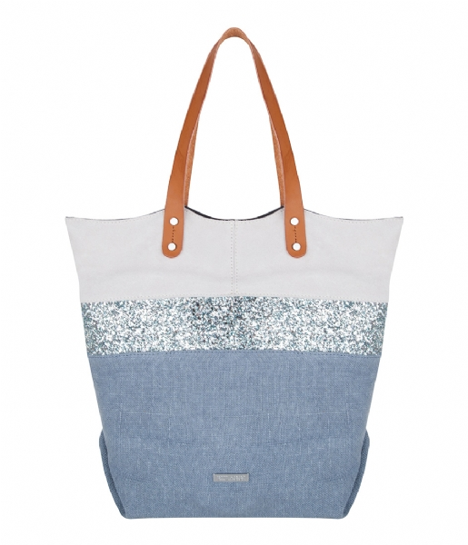 Burbank Shopper blue Bulaggi | The Little Green Bag